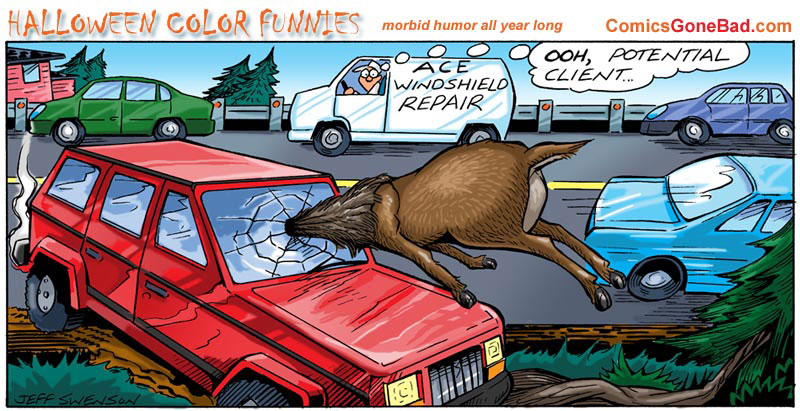 Looking For Funny Pic Of Deer Being Hit By Suv