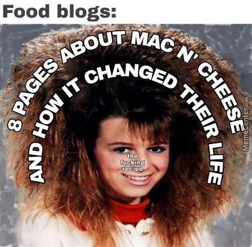Food Blogs: •PUT Fuckihg R'±ipe