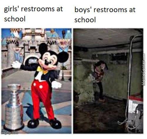 Girls' Restrooms At School Boys' Restrooms At School